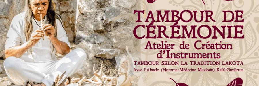 """Atelier de création """"Tambour de Cérémonie"""" (Tambour Lakota)"""
